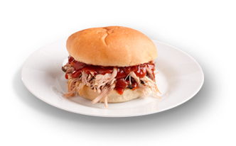 Maid-Rite pulled pork sandwich